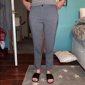 Talbots Grey Pants Ankle Cropped